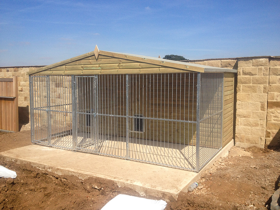 Bespoke kennels houses game rearing sheds and dog kennels for Dog boarding in homes